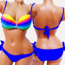 wholesale Swimwear: 4627 Feminine Swimsuit, Mermaid Style, Ombre