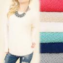 wholesale Pullover & Sweatshirts: C11356 Long, Loose Hairy Sweater, Warm Tunic