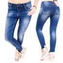 B16626 Scratched Jeans Pantalon, ligne maigre, ble