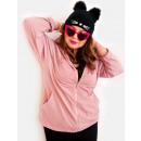 Großhandel Pullover & Sweatshirts: EM04 Frauen Hoodie Oversize, Heather Farbe