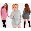 Robe pull A843, grande taille, avec trous