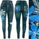 groothandel Kleding & Fashion: Leggins, damesjeans met jets, bloemen, UNI