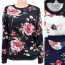 wholesale Shirts & Blouses: Women's Sweatshirt M- 2XL, Fashion Flowers, 56