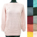 wholesale Pullover & Sweatshirts: Classic Loose Women Sweater, Silver Jets, R128