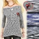 Großhandel Hemden & Blusen: BI325 LOSE TUNIKA, BLUSE, TULIPLES, MELANGE
