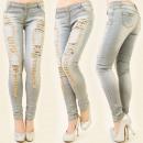 Großhandel Fashion & Accessoires: B16348 glamourösen  Hosen, Jeans, viele Löcher MIX