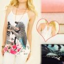 grossiste Vetement et accessoires: C22129 Blouse phénoménale, zèbres africains, ...