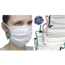 Protective face mask, white, straps color