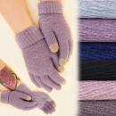 Großhandel Handschuhe: C17452 Weiche Wollhandschuhe, Winterfarben