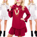Großhandel Kleider: C24240 Gorgeous Kleid mit Schleife, Sexy Chic