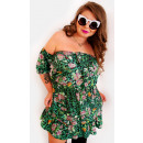 Großhandel Kleider: EM47 Spanisches Kleid mit einer Schleife, fleckig,