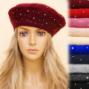 wholesale Fashion & Apparel: C17405 Exclusive Beret, Zircon, Parisian Style