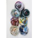 grossiste Bricoler et dessiner: F602, belle  écharpe, des couleurs pastel