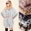 A1203 Klassieke, warme sjaal, sjaal, geruit, wol