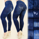 grossiste Vetements en jean: FL433 Leggings Jeans, brosses, bambou grande taill