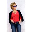 wholesale Shirts & Tops: D2675 Attractive Blouse, Top, Sensual Neckline