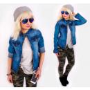 BI717 Frühling Damen Jacke, Jeans, Ramones