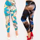 Großhandel Hosen: 4718 Bequeme Damengamaschen, Mustermix