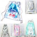 Großhandel Rucksäcke: Damen Rucksack Tasche, Hologramm, lustige Drucke A