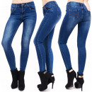 B16580 Shaded  Bottoms jeans, des tubes froids