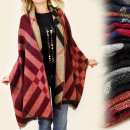FL271 BEAUTIFUL  SCARF, PLAID, ponchos,