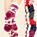 wholesale Stockings & Socks: 4156 Warm Socks,  Fur Slippers, ABS, Reindeers
