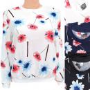 wholesale Shirts & Blouses: Women's Sweatshirt M- 2XL, Autumn Flowers, 560