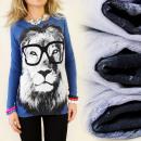 ingrosso Ingrosso Abbigliamento & Accessori: K204 camicetta,  FOTO STAMPA: occhiali LION MIX