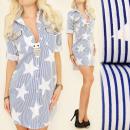 BI518 Robe pour femme, tunique, étoiles glamour