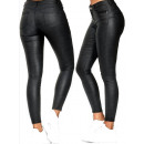 wholesale Trousers: Women Push-Up Pants, Glossy Look, 34-42, B169