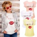 Großhandel Shirts & Tops: Baumwollbluse, Damen T-Shirt , Hilf mir, K483