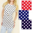 N063 Lovely Cotton Blouse, Top, Full of Dots