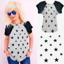Großhandel Shirts & Tops: 4660 Baumwollhemd, Oberteil, Bluse, Stars Grey