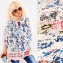 ingrosso Ingrosso Abbigliamento & Accessori: FL708 Grande scialle, scialle, motivo floreale