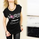 Großhandel Fashion & Accessoires: K292  Baumwollbluse,  TOP, Paris ist ein ...