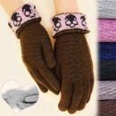 Großhandel Handschuhe: C17454 Handschuhe für charmante Frauen, warme Woll