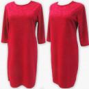 Großhandel Kleider: D4024 Kleid, Made In Poland, 44-52, Rot