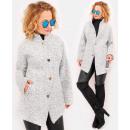 C24248 női dzseki, túlméretezett kabát, klasszikus