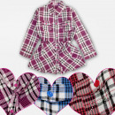 Großhandel Kleider: A19224 Kleid, Mädchen Tunika, Gitter, 4-12 Jahre