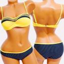 Großhandel Bademoden: 4621 Frauen Badeanzug, Pin Up Girls, Tupfen