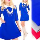 Großhandel Kleider: C24244 Romantisches Kleid mit Kragen