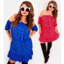 Großhandel Kleider: EM45 Kleid mit Schleife, Spanier in Groszki, MIX