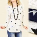 Großhandel Fashion & Accessoires: C11102 LOOSE  BLOUSE, TUNIKA, MODEL Die Sterne