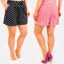 Großhandel Shorts: C17608 Sommershorts, Schnürband, Polka ...