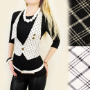 C11161 STYLISH VEST, MODEL plaid POSH VEST