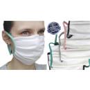 mask coton , white, straps color, D5801