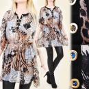 grossiste Vetement et accessoires: TUNIQUE glamour  A1910, Kimono, ANIMAL PRINTS