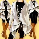 3646, abrigos de vestir, ponchos, chaquetas de pun