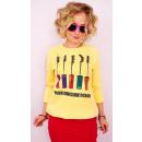 A830 Frauen Sweatshirt aus Baumwolle, Siebdruck: I