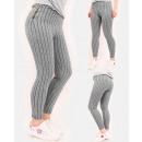 Großhandel Hosen: A856 Damenhosen, vertikale Träger und Reißverschlü